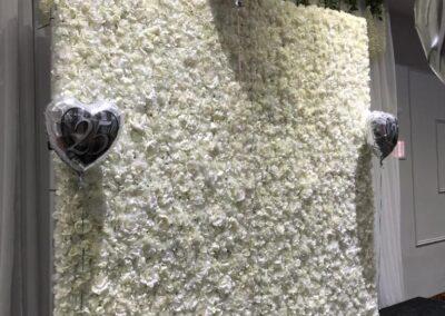 white flower wall Orlando