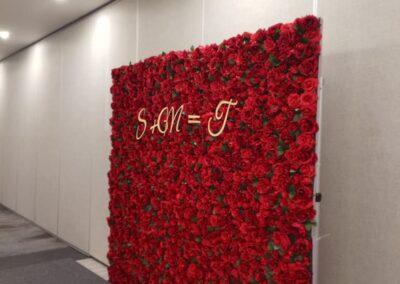 Red flower wall Orlando